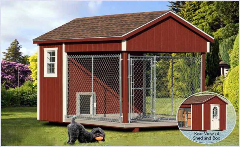 Dog kennels hometown sheds henderson north carolina for Building dog kennels for breeding
